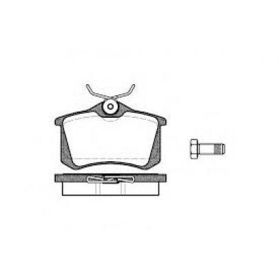 Тормозные колодки задние без датчика (87.6х52.9х17.6mm) VW Caddy III 07- 366231 ABS (Нидерланды)