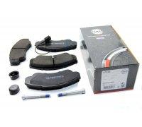 Тормозные колодки передние (с датчиком, R16) Fiat Ducato / Citroen Jumper / Peugeot Boxer 1994-2006 37332 ABS (Нидерланды)