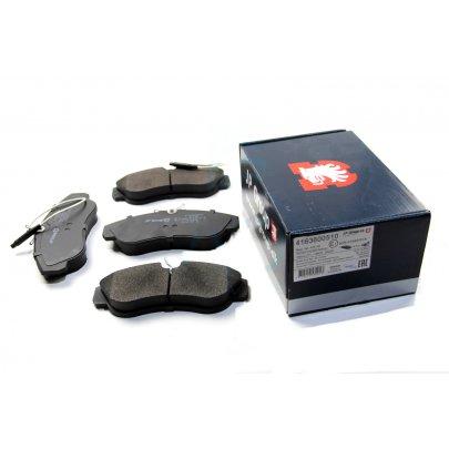 Тормозные колодки передние (с датчиком, R16) Fiat Ducato / Citroen Jumper / Peugeot Boxer 1994-2002 4163600510 JP GROUP (Дания)