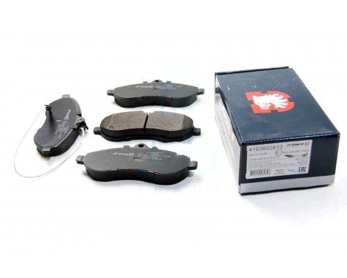 Тормозные колодки передние Fiat Scudo II / Citroen Jumpy II / Peugeot Expert II 2007- 4163602610 JP GROUP (Дания)