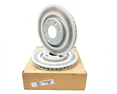 Тормозной диск передний вентилируемый (266x22mm, комплект ) Peugeot Partner / Citroen Berlingo 1996-2011 4249 G1 CITROEN / PEUGEOT (Франция)