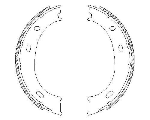 Колодки ручника (без пружинок) MB Sprinter 208-316 1995-2006 4710.01 Remsa (Испания)
