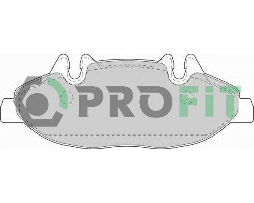 Тормозные колодки передние (система Bosch) MB Vito 639 2003- 5000-1493 PROFIT (Чехия)