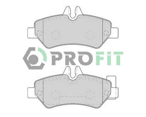 Тормозные колодки задние без датчика VW Crafter 2006- 5000-1780 PROFIT (Чехия)