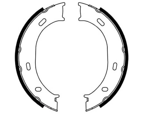 Колодки ручника (без пружинок) VW LT 28-35 1996-2006 5001-0624 PROFIT (Чехия)