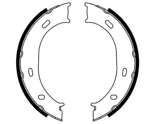 Колодки ручника (без пружинок) MB Sprinter 208-316 1995-2006 5001-0624 PROFIT (Чехия)