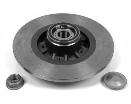 Тормозной диск задний (R15 / R16, с подшипником) Renault Kangoo II / MB Citan 2008- 5010-1734 PROFIT (Чехия)