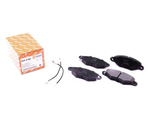 Тормозные колодки передние (с датчиками) Renault Kangoo / Nissan Kubistar 97-08 5040180 AUTOTECHTEILE (Германия)