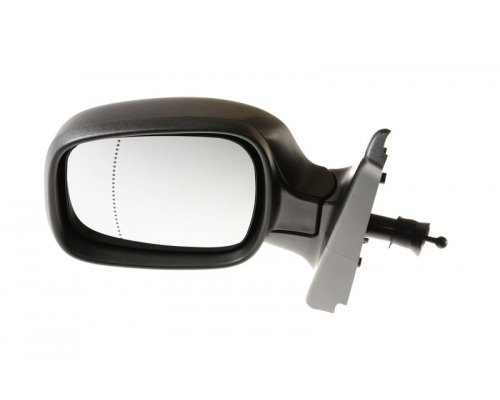 Зеркало левое механическое (асферичное) Renault Kangoo / Nissan Kubistar 2003-2008 5402-04-9212172P BLIC (Польша)
