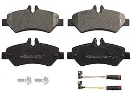 Тормозные колодки задние c датчиком VW Crafter 2006- 573729CH CHAMPION (США)