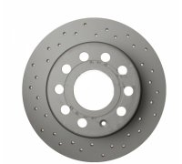 Тормозной диск задний (253х10mm) VW Caddy III 07- 600.3234.52 ZIMMERMANN (Германия)