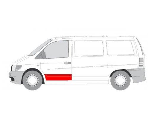 Ремонтная часть передней двери левой (20см) MB Vito 638 1996-2003 6015-00-3541121K BLIC (Польша)