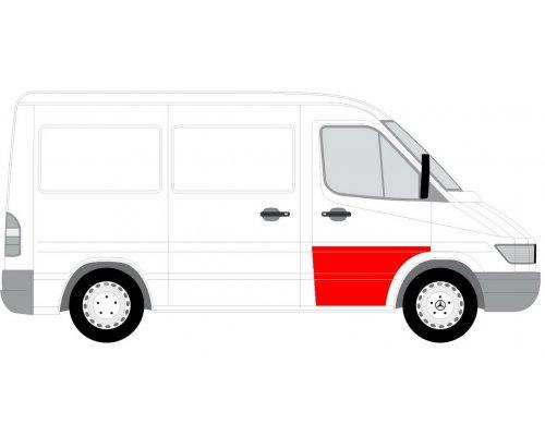 Ремонтная часть передней двери правой (64см) MB Sprinter 901-905 1995-2000 6015-00-3546124P BLIC (Польша)