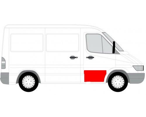 Ремонтная часть передней двери правой (45см) MB Sprinter 901-905 1995-2000 6015-00-3546128P BLIC (Польша)