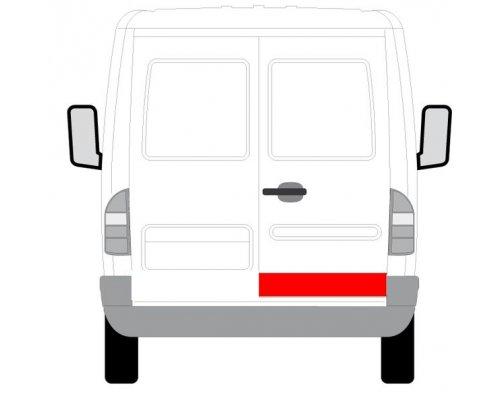 Ремонтная часть задней двери правой (14см) MB Sprinter 901-905 1995-2000 6016-00-3546157P BLIC (Польша)