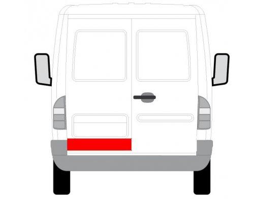 Ремонтная часть задней двери левой (14см) MB Sprinter 901-905 1995-2000 6016-00-3546157P BLIC (Польша)