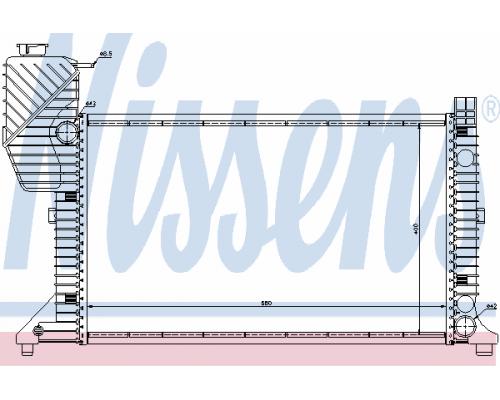 Радиатор охлаждения (с кондиционером) MB Sprinter 2.3D / 2.9TDI 1995-2006 62664A NISSENS (Дания)