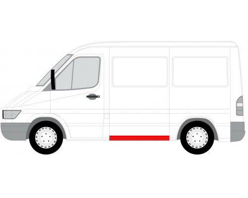 Ремонтная часть левой стороны (20x118.5см) MB Sprinter 901-905 1995-2000 6505-06-3546003P BLIC (Польша)
