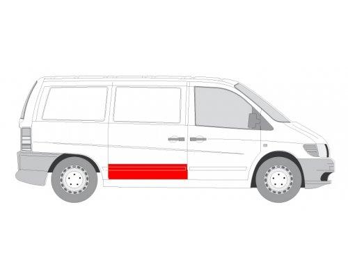 Ремонтная часть cдвижной двери (30см) MB Vito 638 1996-2003 6508-01-3541150P BLIC (Польша)