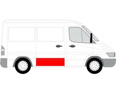 Ремонтная часть cдвижной двери правой (31см) MB Sprinter 901-905 1995-2000 6508-01-3546150P BLIC (Польша)