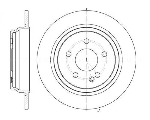 Тормозной диск задний (296х10мм) MB Vito 639 2003- 6678.00 Remsa (Испания)