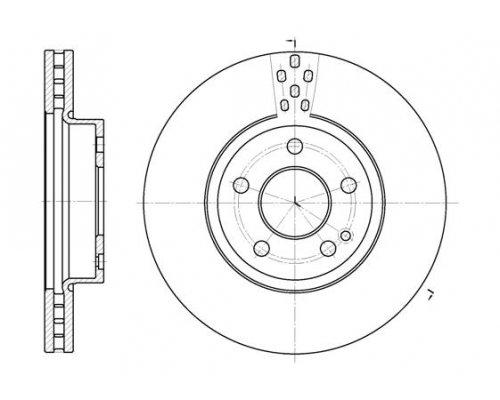Тормозной диск передний (300х28мм) MB Vito 639 2003- 6679.10 Remsa (Испания)