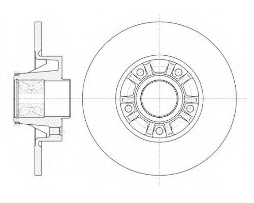 Тормозной диск задний (с подшипником) Renault Trafic II / Opel Vivaro A 2001-2014 673320 ROADHOUSE (Испания)