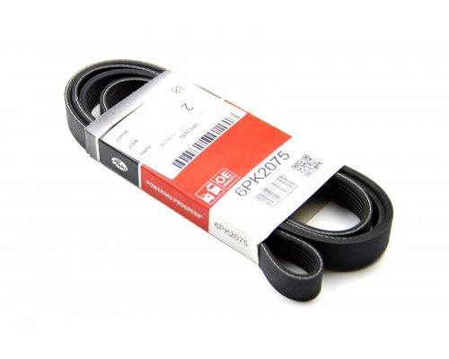 Ремень генератора (без кондиционера) MB Vito 638 2.2CDI 96-03 6PK2075 GATES (Бельгия)
