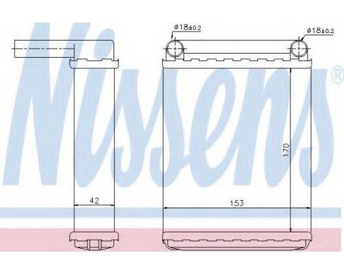 Радиатор печки (версия: BEHR, 170х153х42мм) MB Sprinter 1995-2006 72038 NISSENS (Дания)