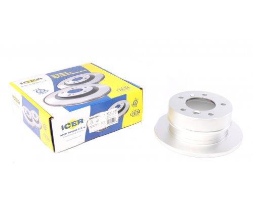 Тормозной диск задний (258х12мм) MB Sprinter 208-216 1995-2006 78BD0184-1 ICER (Испания)