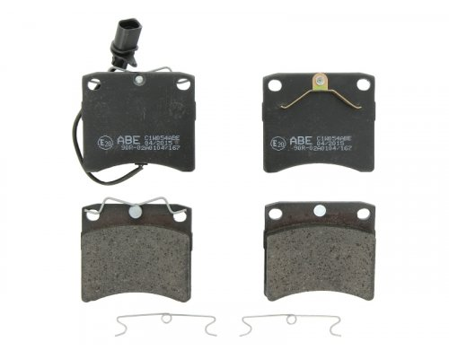 Тормозные колодки передние с датчиком (LUCAS, R15, вент. диск, 91.7х80х17.7mm) VW T4 90-03 C1W054ABE ABE (Польша)