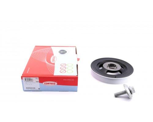Шкив коленвала (с болтом) Fiat Scudo II / Citroen Jumpy II / Peugeot Expert II 1.6HDi 2007- 80004330 CORTECO (Италия)