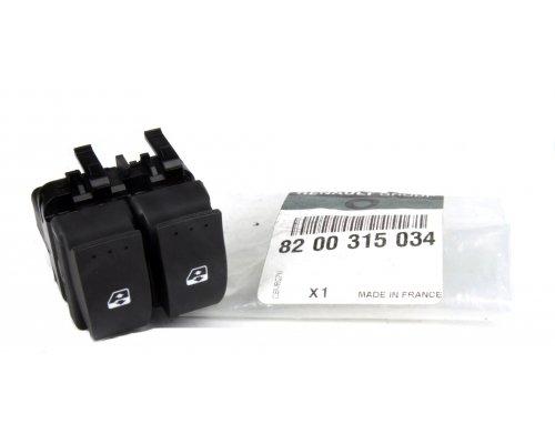 Кнопка стеклоподъемника левая двойная (водительская) Renault Trafic II / Opel Vivaro A 2001-2014 8200315034 RENAULT (Франция)