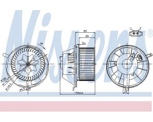 Моторчик печки (с автоматическим кондиционером) VW Caddy III 2004- 87032 NISSENS (Дания)