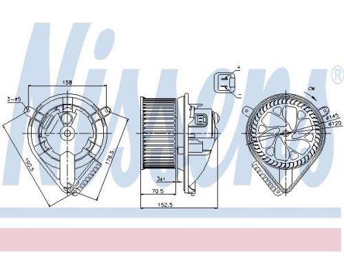 Моторчик печки (без дополнительной системы отопления) MB Vito 638 1996-2003 87156 NISSENS (Дания)