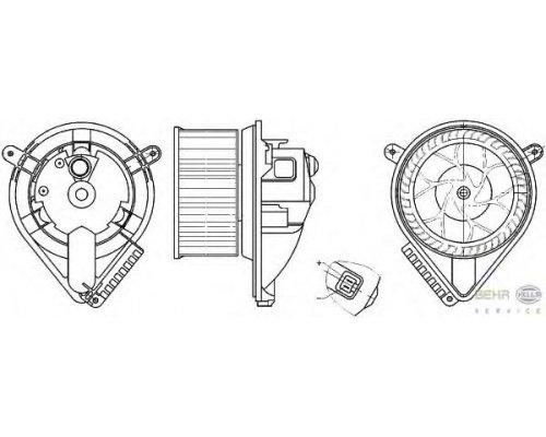 Моторчик печки (без дополнительной системы отопления) MB Vito 638 1996-2003 8EW351304-041 HELLA (Германия)