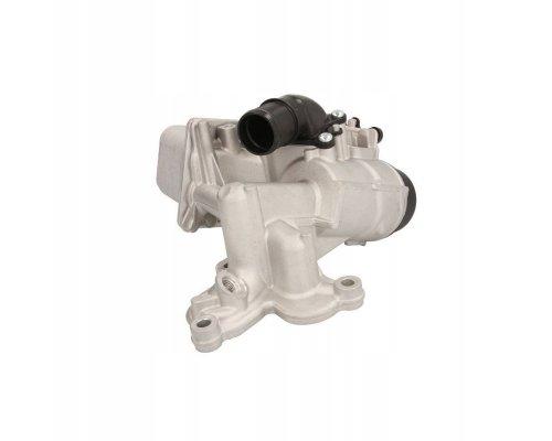 Радиатор масляный / теплообменник (с корпусом, 69x139x58) Renault Trafic II / Opel Vivaro A 2.0dCi 06-14 90924 NRF (Нидерланды)