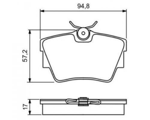 Тормозные колодки задние Renault Trafic II / Opel Vivaro A 2001-2014 920281 FOMAR (Польша)