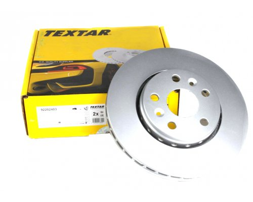 Тормозной диск передний (R15 / R16, D=280mm) Renault Kangoo II / MB Citan 2008- 92202403 TEXTAR (Германия)