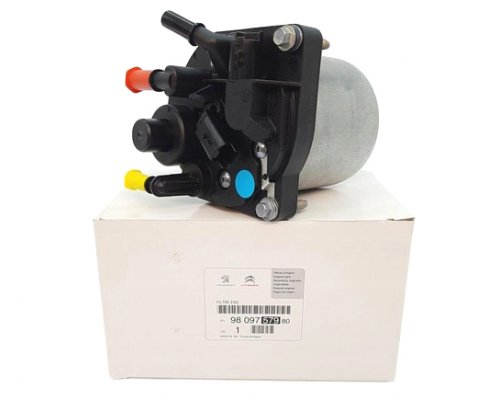 Фильтр топливный (с корпусом, двигатель 9H07, 9HH, 9HM) Fiat Scudo II / Citroen Jumpy II / Peugeot Expert II 1.6HDI 2007- 9809757980 CITROEN / PEUGEOT (Франция)