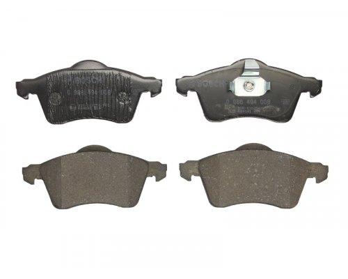 Тормозные колодки передние без датчика (ATE, R15, вент. диск, 156.4x68.5x19.5mm) VW T4 96-03 0986494008 BOSCH (Германия)