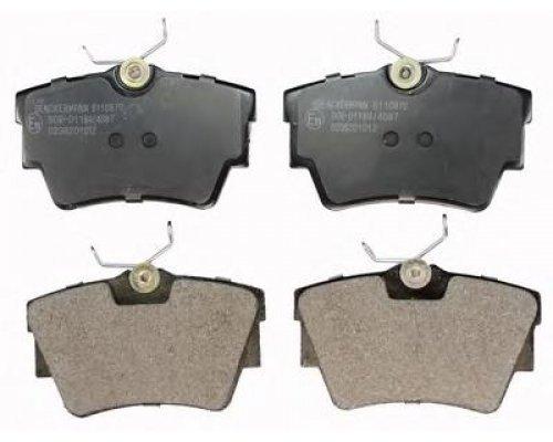 Тормозные колодки задние Renault Trafic II / Opel Vivaro A 2001-2014 B110870 DENCKERMANN (Польша)