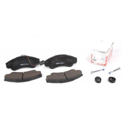 Тормозные колодки передние (с датчиком, R16) Fiat Ducato / Citroen Jumper / Peugeot Boxer 1994-2006 BL1860A4 FTE (Германия)