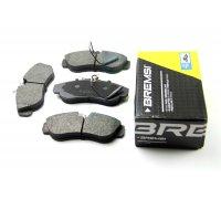 Тормозные колодки передние (с датчиком, R16) Fiat Ducato / Citroen Jumper / Peugeot Boxer 1994-2002 BP2615 BREMSI (Италия)