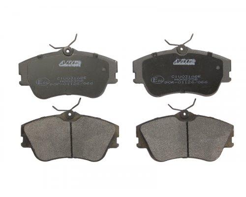 Тормозные колодки передние без датчика (R15, сплошной диск, 129.7x65.2x19mm) VW T4 90-03 C1W031ABE ABE  (Польша)