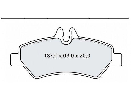Тормозные колодки задние без датчика VW Crafter 2006- D237E INTELLI (Украина)