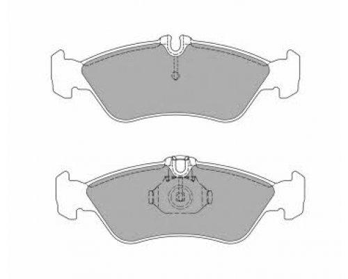 Тормозные колодки задние (141x50x17мм) MB Sprinter 208-316 1995-2006 FBP-1035 Fremax (Испания)