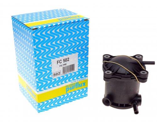Фильтр топливный (с корпусом) Fiat Scudo / Citroen Jumpy / Peugeot Expert 1.9D, 1.9TD 1995-2006 FC502 PURFLUX (Франция)