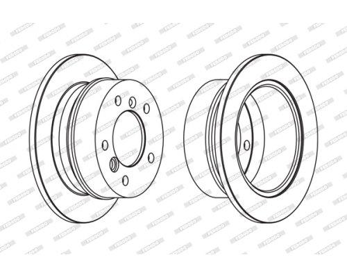 Тормозной диск задний (258х12мм) MB Sprinter 208-216 1995-2006 FCR230A FERODO (Великобритания)