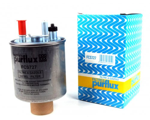 Фильтр топливный (без датчика воды) Renault Kangoo II 1.5dCi 2008- FCS727 PURFLUX (Франция)